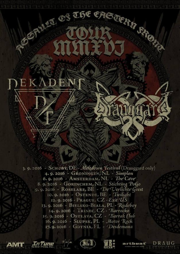 Drauggard & Dekadent Tour Poster 2016